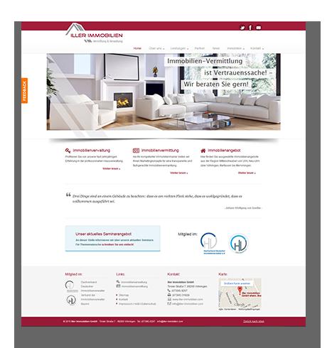 Webdesign Iller Immobilien