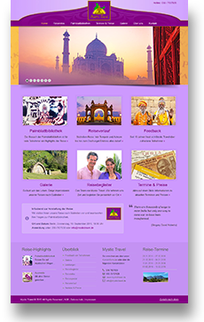Webdesign Mystic Travel