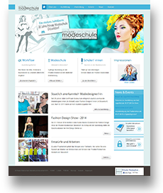 Webdesign Private Modeschule